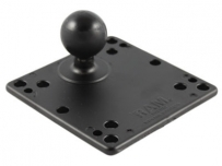 "RAM 4.75"" Square Base with VESA (4 X 75mm) (4 X 100mm) Hole Patterns & 1.5"" Ball"