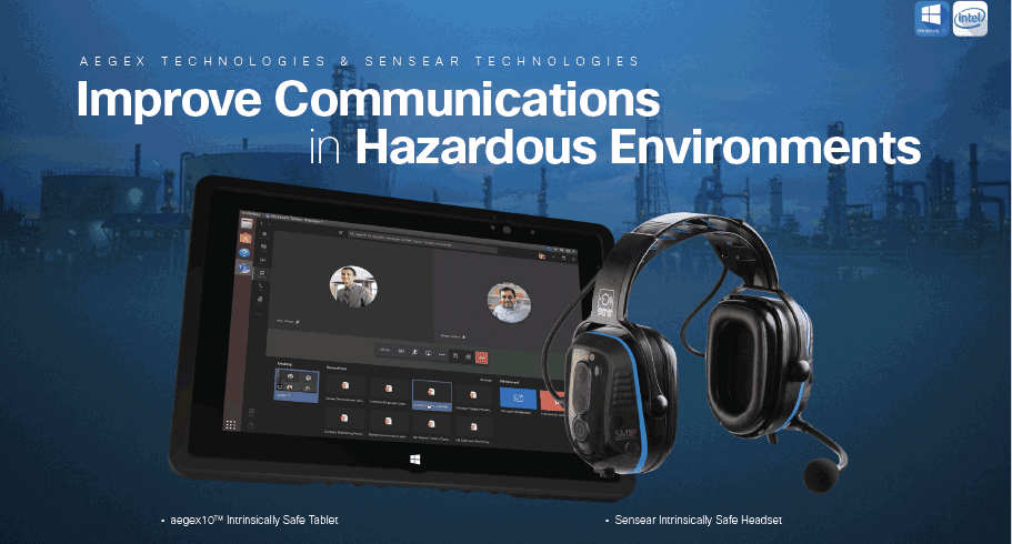 Aegex and Sensear Launch Joint Communications Solution for Efficient Hazardous Operations